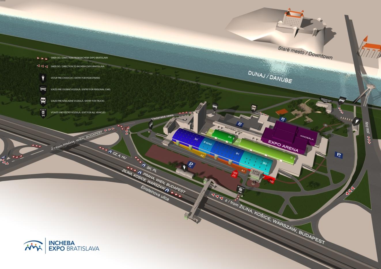 Mapa veletrhu MODDOM 2019 - INCHEBA EXPO BRATISLAVA