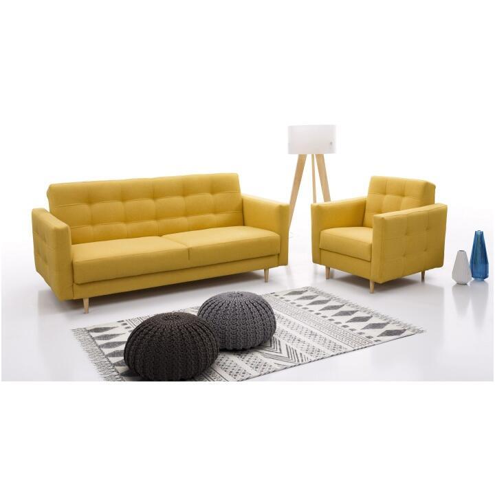 Dejte šanci žluté sedací soupravě