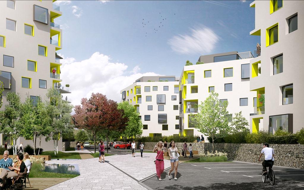 Výstavba bytů a kanceláří Rohan City v Praze